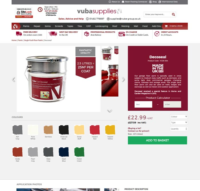 Magento Web Shop for Vuba Supplies Ltd