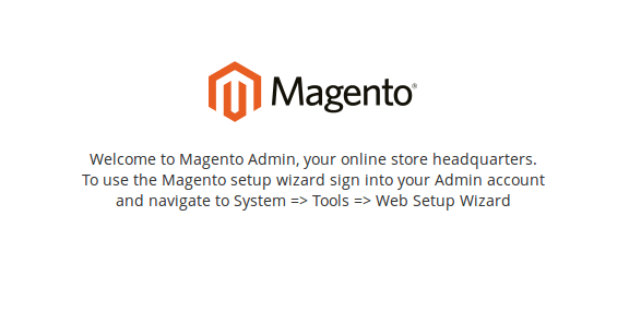 magento2 installation completed