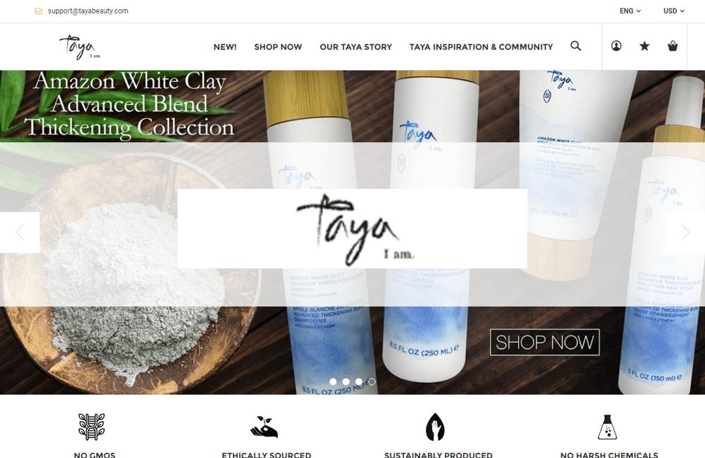Taya Beauty - Shopify Website